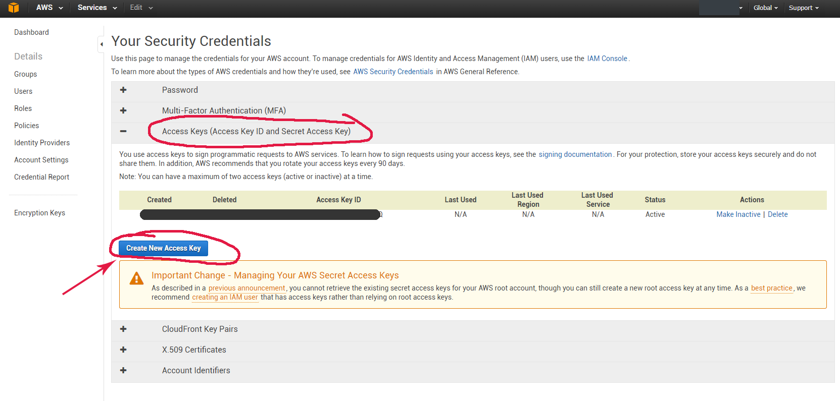 What's AWS Access Key Id (Amazon Key Id), AWS Secret Access Key